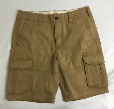 Hollister Classic Cargo Shorts Hits At The Knee Khaki Size 32