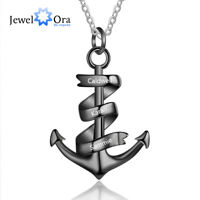 Personalized Anchor Pendant Necklace Free Engraving Names Jewelry Gift For Women