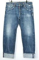 DSQUARED2 authentic selvedge denim distressed Dsquared logo Italian jeans 52-IT