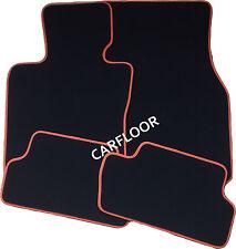 Für Mini Paceman R61 Fußmatten Velours Deluxe schwarz mit Nubukband orange