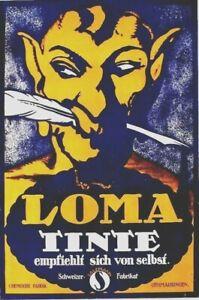 Original vintage poster LOMA TINTE INK MEPHISTO 1914