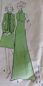 "VINTAGE DRESSMAKING PATTERN PIN POINT PATTERNS- DRESS SIZE 12-18 BUST 34""-40"""