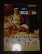 Ironman Hawaii 2010 World Triathlon Program Book 100%Original