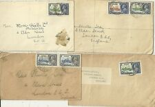 * 1935 x 4 NIGERIA KGV JUBILEE STAMP COVERS TO ROSS SHIELS LONDON STAMP DEALERS