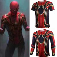 2018 Avengers Infinity War Iron Spider-Man Cosplay Polyester Mens T-Shirt