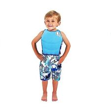 Ocean Pacific Boys 2-Piece Set - Blue Swim Floatation Trainer and Surf Shorts