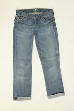 Seven 7 For All Mankind Light Blue Skinny Crop & Roll Jeans Vintage 24