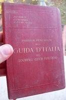 1914 GUIDA T.C.I. MILANO E TORINO E DESCRIZIONE CANTON TICINO PIEMONTE LOMBARDIA