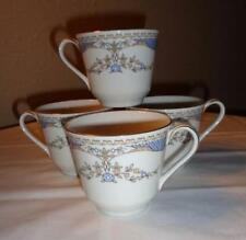 "ROYAL DOULTON PORCELAIN CUPS "" 4 Vintage Curzon Pattern, Made In England"""