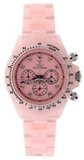 NWT ToyWatch Unisex FLP10PK Fluo Pearlized Pink Plasteramic Chronograph Watch