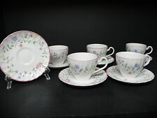 JOHNSON BROTHERS SUMMR CHINZ ENGLAND SET OF 6 CUPS AND SAUCERS ..