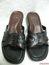 Nurture Comfort Sandals Black Leather 6M Excellent Condition Free Shipping in US