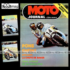 MOTO JOURNAL N°224 SIDE-CAR ROLF BILAND FIM 750 METTET PATRICK PONS SHEENE 1975
