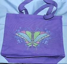 Celtic Butterfly Heavy Canvas Tote Bag Purple Colorful Graphic  NEW