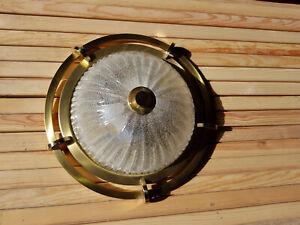 Plafoniere - Deckenlampe aus Messing / Glas - Deckenleuchte - Fischer Leuchten