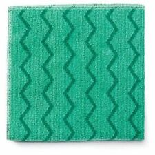 Rubbermaid Q620 Hygen Microfiber Cleaning Cloths, Green, 12 Cloths