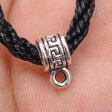 30Pcs Tibetan Silver Connectors Bail Beads necklace Pendant bails10mm B3034