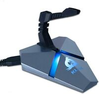 KLIM Bungee Holder for Gaming Mouse W/3-Port USB 3.0 Hub & RGB Illumination, NEW