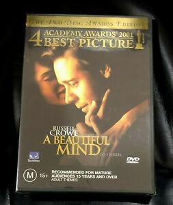 A Beautiful Mind (2007 : 1 Disc DVD Set) Brand New Sealed in Plastic Region 4
