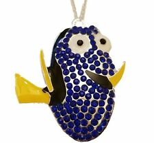 """Disney's Finding Nemo DORY Character Rhinestone Pendant Necklace with 16"""" Chain"""