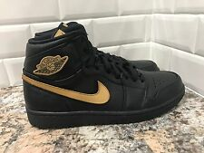 2017 Nike Air Jordan 1 Retro BHM Black History Month Black Gold SZ 11 908656-001
