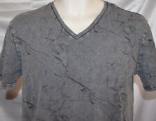 NEW Mens MOSSIMO V-Neck Railroad Gray Distressed Look Tee T-Shirt Top size L
