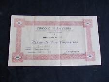 AZIONE DA LIRE CINQUECENTO ANNO 1949