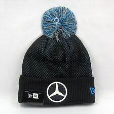 New Era Cap Men's Mercedes F1 Team Colors EQ Winter Knit Bobble Beanie Hat