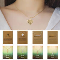 Fashion Women Choker Pendant Chain Necklace Card Gold Clavicle Jewelry Gift
