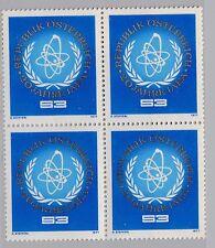 Österreich 1548 Viererblock 20 Jahre Internationale Atombehörde (IAEA) **