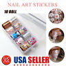 10 Rolls Flower Nail Art Foil Sticker Transfer Decals Mixed Manicure at Home DIY