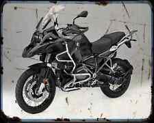 Bmw R1200Gs Adventure Triple Black 16 1 A4 Photo Print Motorbike Vintage Aged