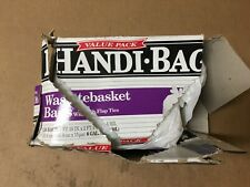Handi-Bag Hab6Fw130 Super Value Pack, 8gal, 0.6mil, 22 x 24, White Shelf Pull