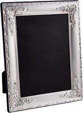 Sterling Silver Floral Pattern Photo Frame 7 x 5 inches (18cm x 13cm)