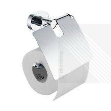 ECOSPA Toilet Paper Roll Holder and Cover in Chrome • Wall Mounted • WC Bathroom