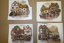 Ceramic Decals Olde English coach houses lot of 20