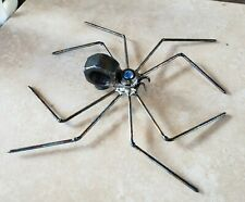 Scrap Metal Spider with blue marble