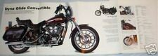 Huge Harley Davidson Dyna Glide Convertible Poster picture print bike motorcycle