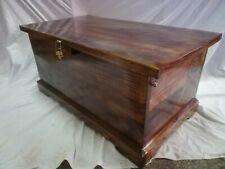 BAUL COFRE de madera con Candado. XXL 90 cm Barnizado color nogal