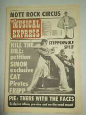 NME FEBRUARY 26 1972 FACES STEPPENWOLF GREG LAKE KEITH EMERSON MICK JAGGER