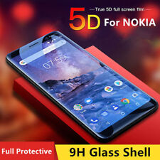 5D Tempered Glass Screen Protector For NOKIA8 7 6 5 3 2 Curved Edge Full Cover