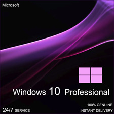 Microsoft Windows 10 Pro Professional 32/64 bit Genuine License Key Product Code