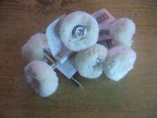 "Polishing & Buffing Wheel White Yarn 1"" Use with Rotary Tool 6 pcs."
