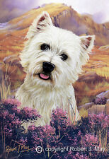 Signed West Highland White Terrier Print by Robert May