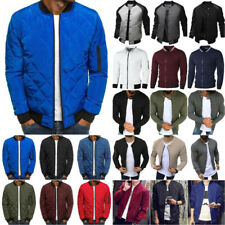 Mens Winter Long Sleeve Baseball Jackets Gym Sports Outwear Slim Zipper Coat Top