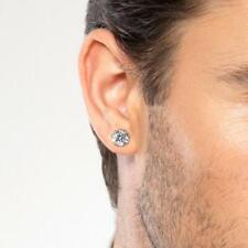 Mens Stud Earrings,  Diamond Crystal Studs for men, Mens Sterling Silver Jewelry