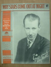 VINTAGE SHEET MUSIC - WHY STARS COME OUT AT NIGHT - FOR PIANO UKULELE & VOICE