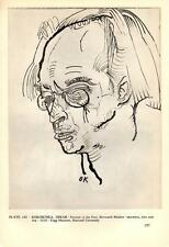 Herwarth Walden Portrait (1910) by Oskar Kokoschka - Bookplate Art Print 7x10""