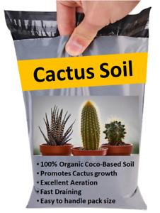 Cactus Potting Soil & Compost - Organic Coco Soil disc Cacti & Succulents 500ml