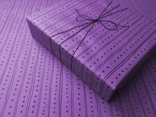 Dots and Lines Purple Gothic Wrapping Paper -up to 8 Feet of Birthday Gift Wrap